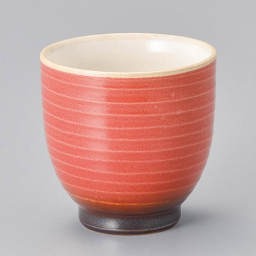45416-280 寿(ことぶき)湯呑(赤)|業務用食器カタログ陶里30号