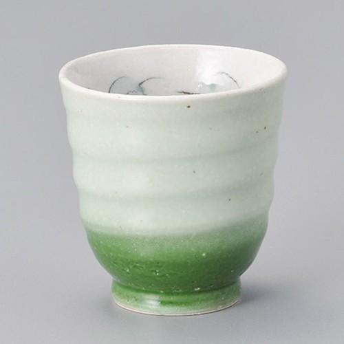 45420-220 バラ湯呑(緑)|業務用食器カタログ陶里30号