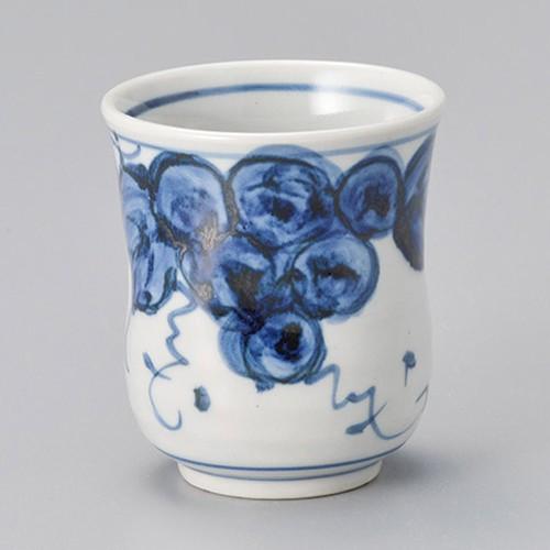 45425-450 手描き葡萄(ぶどう)湯呑(大)|業務用食器カタログ陶里30号