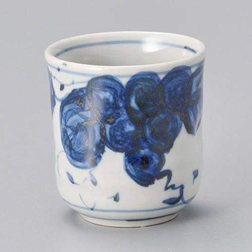 45426-450 手描き葡萄(ぶどう)湯呑(小)|業務用食器カタログ陶里30号