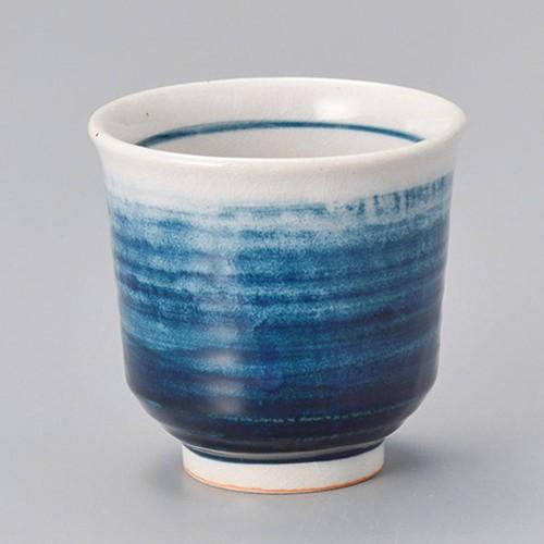 45427-150 青ボカシ湯呑(大)|業務用食器カタログ陶里30号