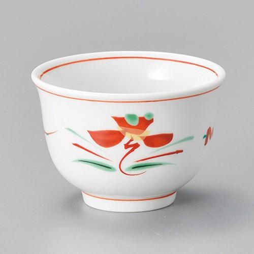 45609-050 赤絵花紋反煎茶|業務用食器カタログ陶里30号