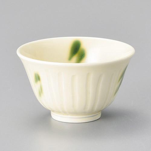 45636-310 黄釉織部流し反煎茶(強化) 業務用食器カタログ陶里30号