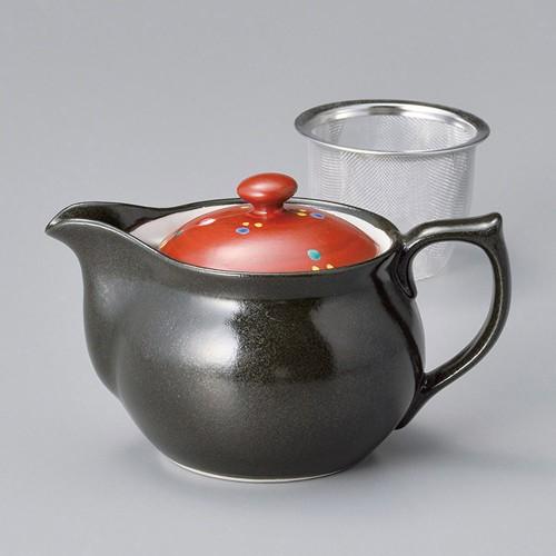 46412-450 赤絵シャボン玉ポット(アミ付) 業務用食器カタログ陶里30号
