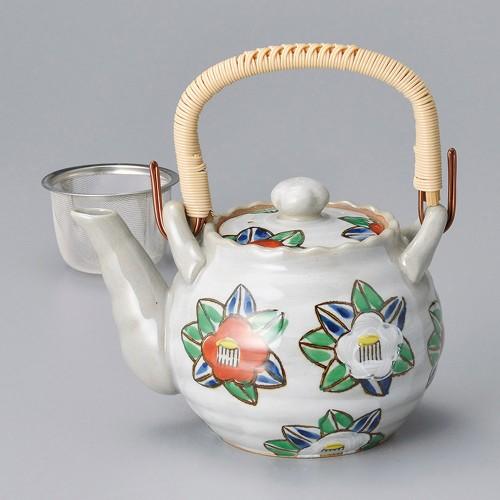 46508-330 椿土瓶(大)(Uアミ付) 業務用食器カタログ陶里30号