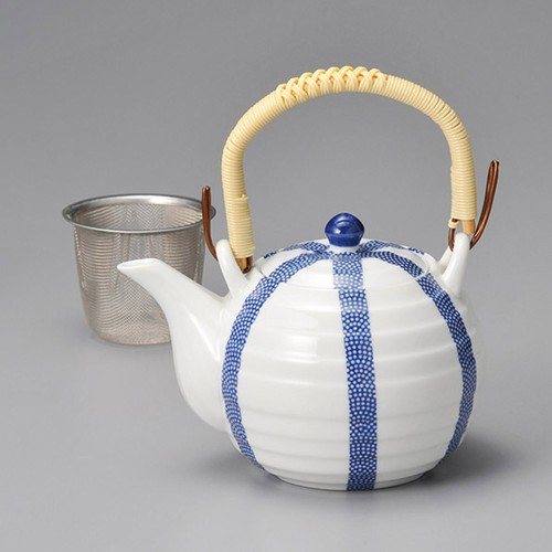 46514-330 千段青十草土瓶(網付) 業務用食器カタログ陶里30号