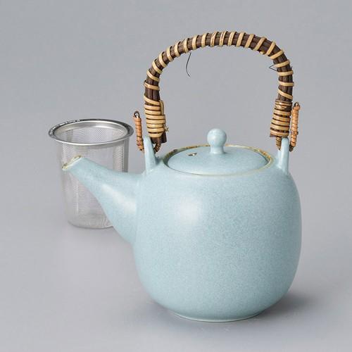 46517-460 ソーダ(水色)つるつる土瓶 業務用食器カタログ陶里30号