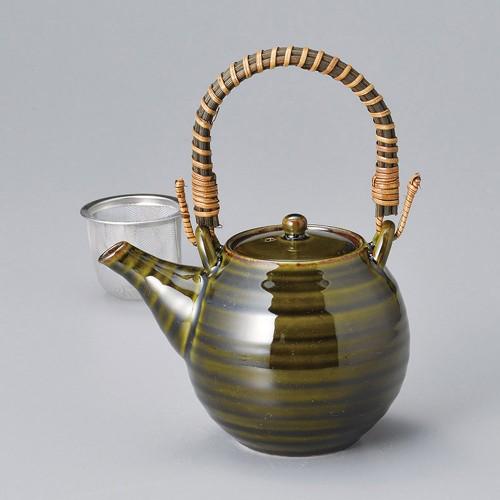 46518-120 深緑土瓶 業務用食器カタログ陶里30号