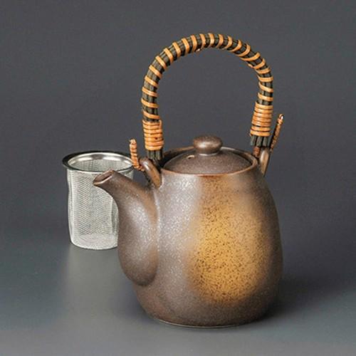 46521-220 錆茶吹土瓶(アミ・つる付) 業務用食器カタログ陶里30号