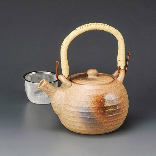 46602-330 織部吹8号土瓶(Uアミ付) 業務用食器カタログ陶里30号