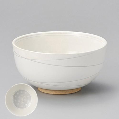 48611-300 粉引三島5.5丼 業務用食器カタログ陶里30号