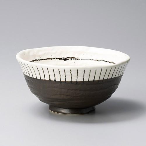 48617-050 白黒十草6.0丼 業務用食器カタログ陶里30号