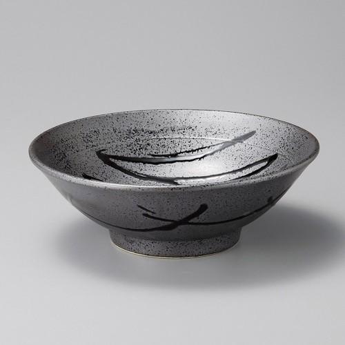 50204-180 黒伊賀十草 新型8.0丼|業務用食器カタログ陶里30号