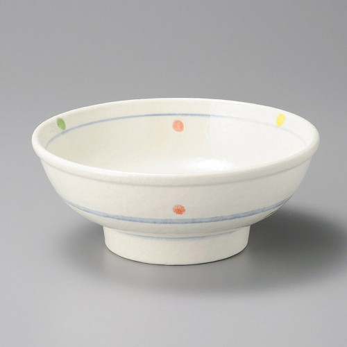 50206-180 三色水玉高浜7.0玉丼|業務用食器カタログ陶里30号