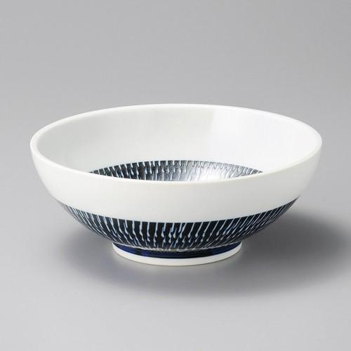 50212-080 藍とびかんな麺鉢|業務用食器カタログ陶里30号