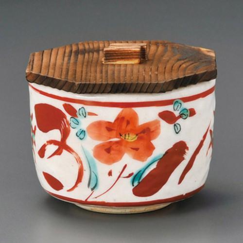 50607-450 志野赤絵飯器(蓋付)|業務用食器カタログ陶里30号