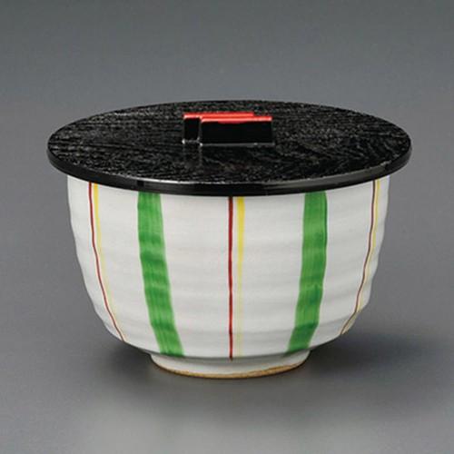 50618-210 グリーン十草飯器(蓋)|業務用食器カタログ陶里30号