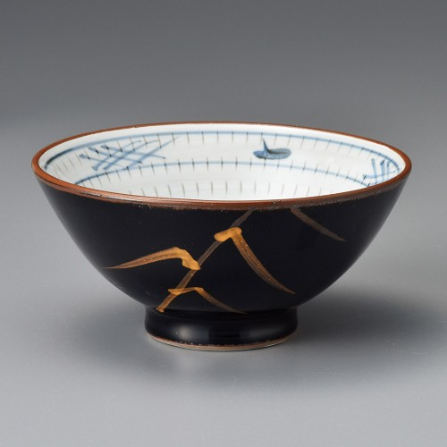 50813-180 天目金芦(土物)新形のり茶漬|業務用食器カタログ陶里30号