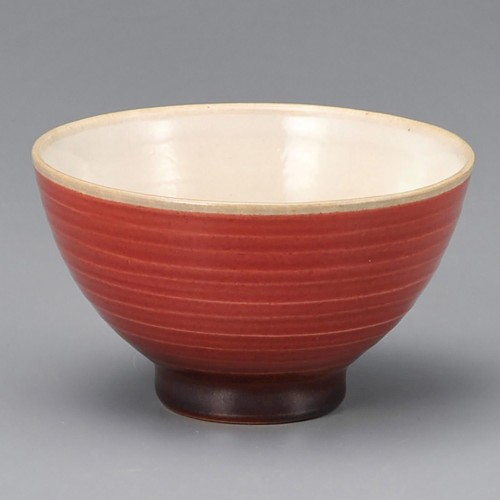 51409-280 寿(ことぶき)茶碗(赤)|業務用食器カタログ陶里30号