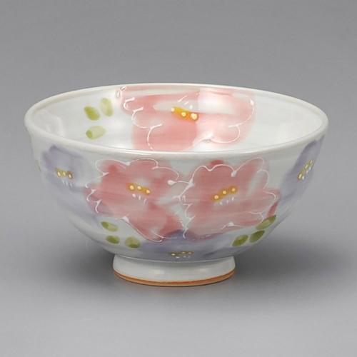 51419-150 花束茶碗ピンク|業務用食器カタログ陶里30号