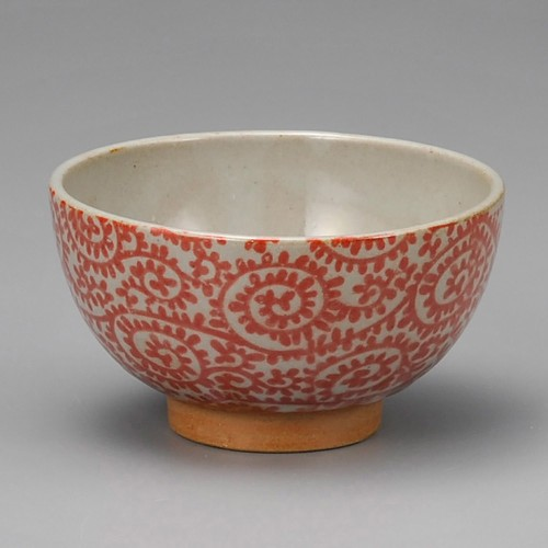 51425-400 土物タコ唐草赤茶碗|業務用食器カタログ陶里30号