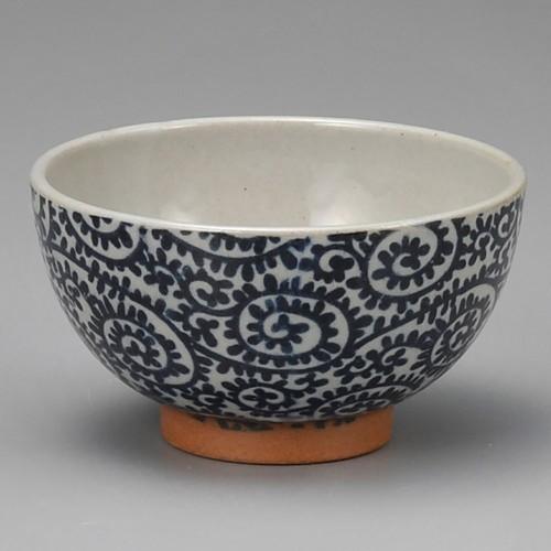 51426-400 土物タコ唐草青茶碗|業務用食器カタログ陶里30号