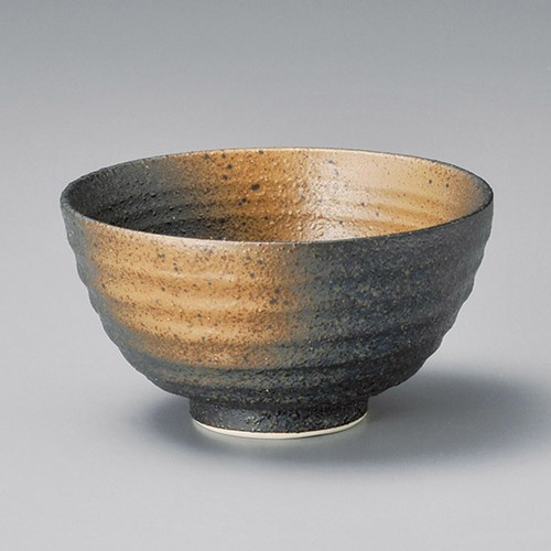 51819-270 黒備前丸碗(大)|業務用食器カタログ陶里30号