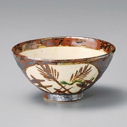51824-080 錆草文和茶碗|業務用食器カタログ陶里30号
