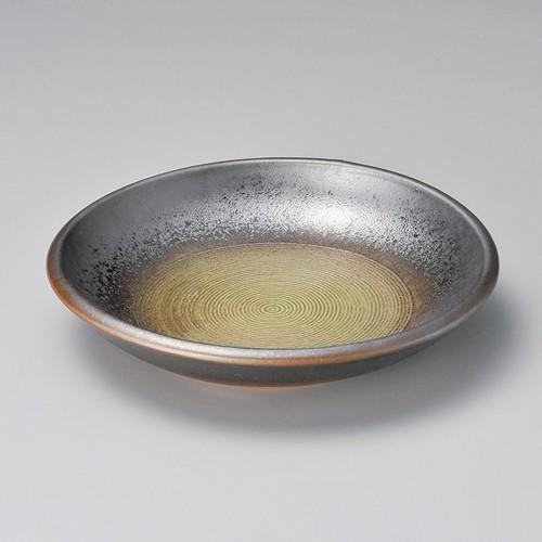 52001-460 黒彩灰釉流8.0浅鉢|業務用食器カタログ陶里30号