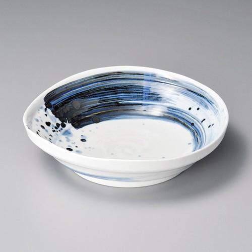 52003-330 呉須刷毛目 [軽量]たわみ7.0麺鉢|業務用食器カタログ陶里30号
