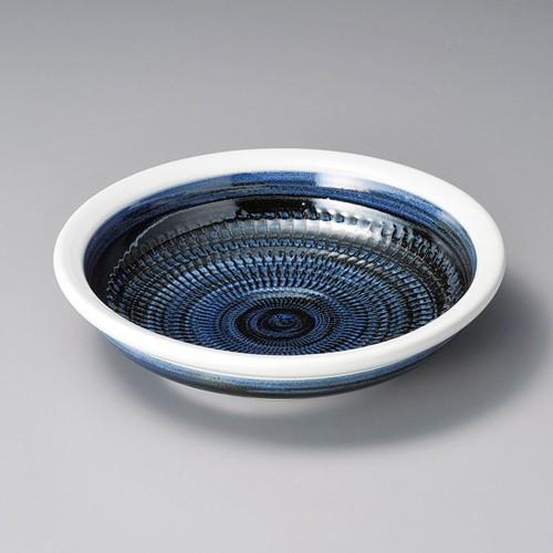 52007-050 大玉渕呉須巻8.0めん皿(軽量土)|業務用食器カタログ陶里30号