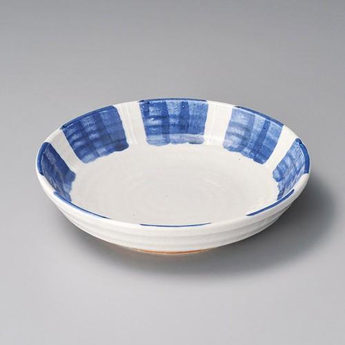 52011-280 一珍紺十草7.5麺皿|業務用食器カタログ陶里30号