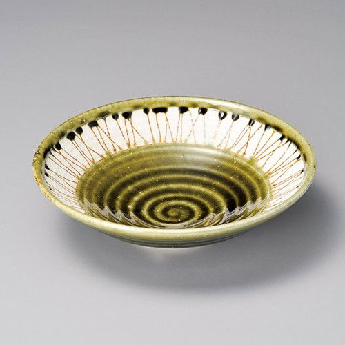 52015-330 緑釉虎杖7.0盛鉢|業務用食器カタログ陶里30号