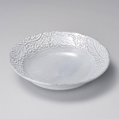 52018-400 グレー花パスタ|業務用食器カタログ陶里30号