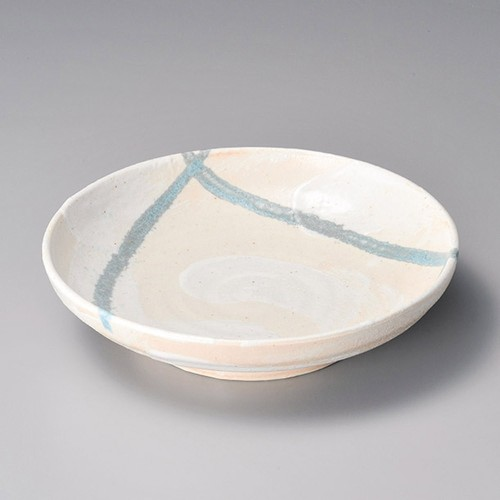 52023-160 志野流し7.5めん皿|業務用食器カタログ陶里30号