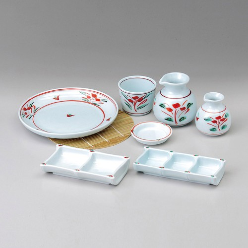 52407-220 手描き吉兆写し7.0皿|業務用食器カタログ陶里30号