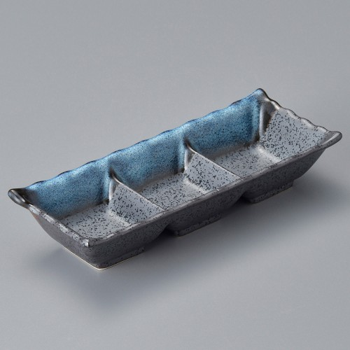 53006-250 海流し三つ切鉢|業務用食器カタログ陶里30号