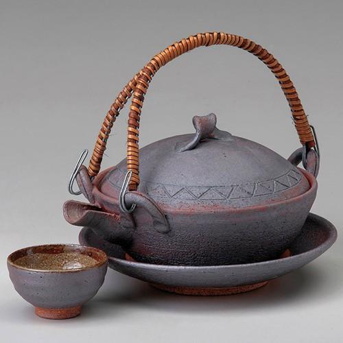 53401-430 南蛮平型土瓶むし|業務用食器カタログ陶里30号