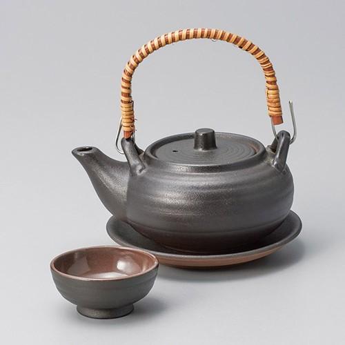 53501-480 黒釉丸形土瓶むし|業務用食器カタログ陶里30号