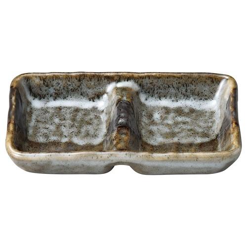 53616-010 山がすみ 石目2品皿|業務用食器カタログ陶里30号
