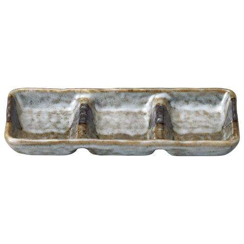 53617-010 山がすみ 石目3品皿|業務用食器カタログ陶里30号