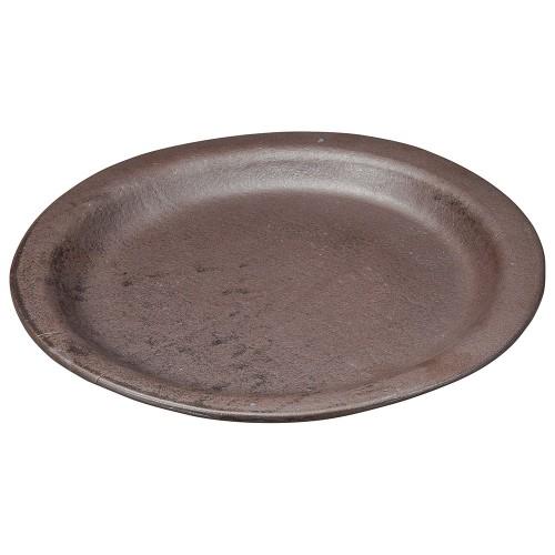 53801-430 黒釉10.0耐熱プレート|業務用食器カタログ陶里30号