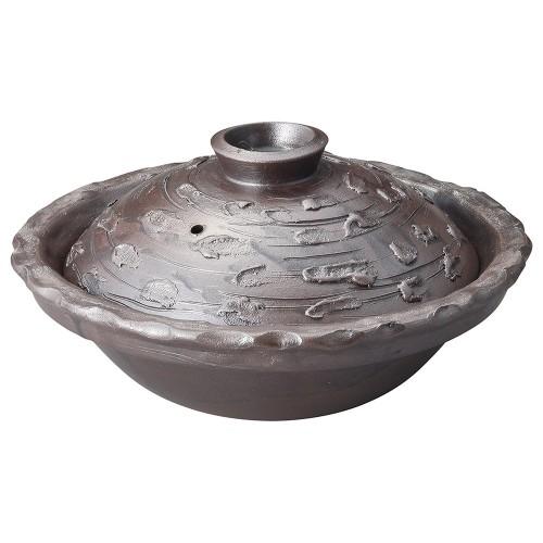 53815-430 手ひねり土鍋|業務用食器カタログ陶里30号