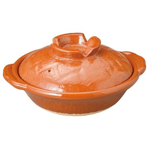 53901-430 赤楽6号鍋|業務用食器カタログ陶里30号
