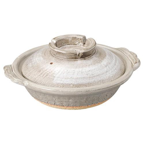53913-430 灰釉刷毛目8号鍋|業務用食器カタログ陶里30号