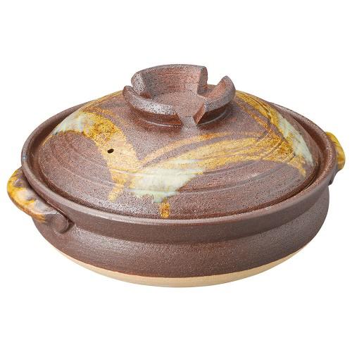 53923-430 鉄赤格子10号鍋|業務用食器カタログ陶里30号