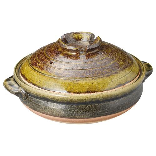 53926-430 グリーン流し9号鍋|業務用食器カタログ陶里30号