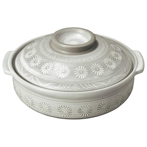 54001-350 銀峯花三島 11号鍋|業務用食器カタログ陶里30号