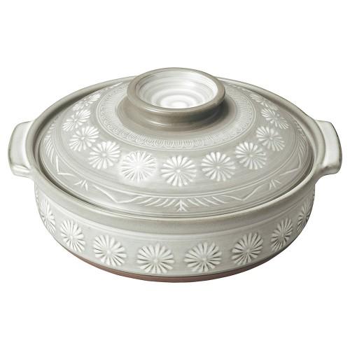 54002-350 銀峯花三島 10号鍋|業務用食器カタログ陶里30号