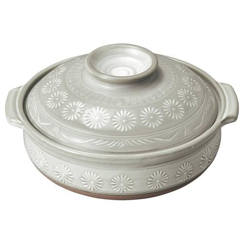 54004-350 銀峯花三島 8号鍋|業務用食器カタログ陶里30号
